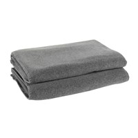 Zoeppritz Soft Fleece Blanket Medium Grey