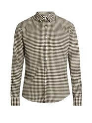 Tomorrowland Long Sleeved Gingham Brushed Cotton Shirt Black Multi