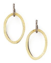 Armenta Midnight Silver And 18K Gold Open Drop Earrings