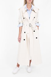 Acne Studios Women S Lucie Twill Trench Coat Boutique1 White