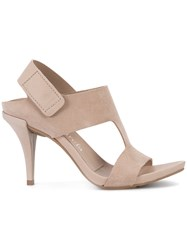 Pedro Garcia Hook And Loop Sandals Nude Neutrals