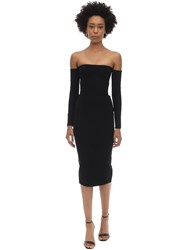 Alex Perry Chase Crepe Midi Dress Black