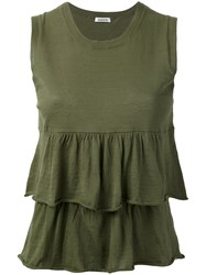 P.A.R.O.S.H. Cerise Tank Women Cotton S Green
