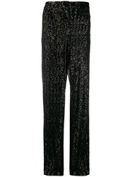 Fabiana Filippi High Waist Embellished Trousers Black
