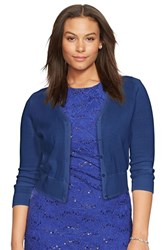 Plus Size Women's Lauren Ralph Lauren V Neck Cotton Cardigan
