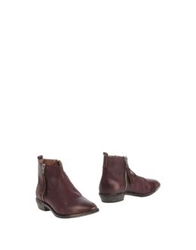 Lemare Ankle Boots Maroon