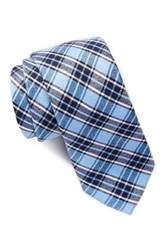 14Th And Union Silk Creed Plaid Tie Blue