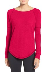 Under Armour Women's Long Sleeve Knit Tee Knockout Pink