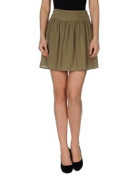 .. Merci Merci Mini Skirts Military Green