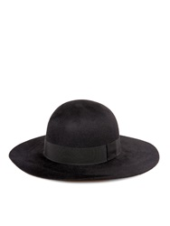 Saint Laurent Fur Felt Wide Brimmed Hat
