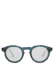 Thierry Lasry Courtesy Round Frame Mirrored Sunglasses Tortoiseshell
