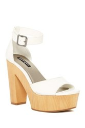 Michael Antonio Toy Peep Toe Heel White