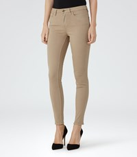 Reiss Stevie Womens Slim Stretch Jeans In White