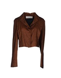 Cacharel Coats And Jackets Jackets Women Brown