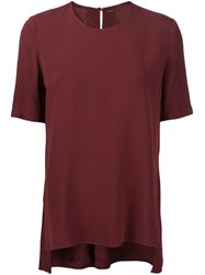 Adam By Adam Lippes Adam Lippes Short Sleeve 'Swing' Top Red