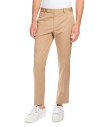 Berluti Stretch Cotton Flat Front Trousers Tan
