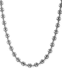 American West Decorative Bead 21 Statement Necklace In Sterling Silver