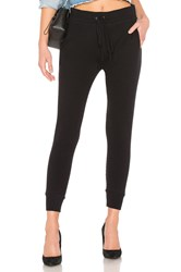 Enza Costa Cashmere Thermal Jogger Black