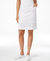 Charter Club Microfiber Pencil Skort Only At Macy's White Navy Pin Dot