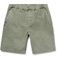 Outerknown Paz Slim Fit Organic Cotton Twill Shorts Green