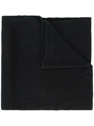 Lost And Found Ria Dunn Contrast Hem Scarf Black