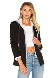 Central Park West Hooded Blazer Jacket Black