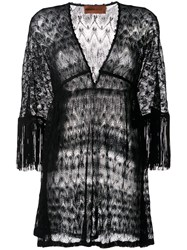 Missoni Mare Fringed Sleeve Knitted Dress 60