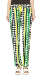 Emma Cook Houndstooth Trousers Yellow Green