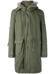 Ermanno Scervino Hooded Mid Coat Green