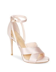 Imagine Vince Camuto Dairren Satin Ankle Strap Dress Sandals Light Pink
