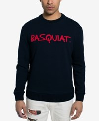 Sean John Men's Basquiat Tricolor Chenielle Sweater Created For Macy's Black