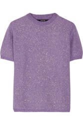 Sibling Party Girl Metallic Wool Sweater Purple