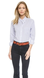 Equipment Margaux Button Down Blouse Bright White Amparo Blue