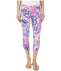 Lilly Pulitzer Luxletic Crop Pants Multi Psychedelic Sunshine Women's Casual Pants