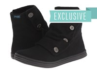 Blowfish Rabbit Solid Black Two Tone Flannel Zip Boots