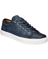 Tommy Hilfiger Men's Manson Low Top Sneakers Men's Shoes Navy Map Print