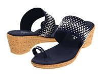 Onex Ring Navy Elastic Women's Wedge Shoes