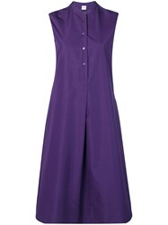 Aspesi Flared Shirt Dress Purple