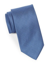 August Silk Square Textured Tie Navy