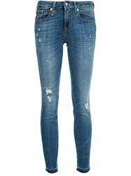 R 13 R13 Skinny Cropped Jeans Blue