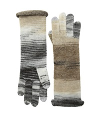 Watercolor Echo Touch Gloves Black Netural Wool Gloves