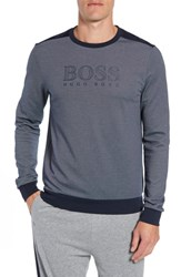 Boss Crewneck Sweatshirt Navy
