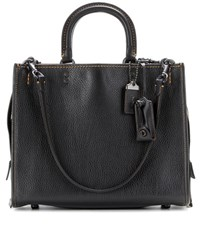 Coach Rogue Leather Tote Black