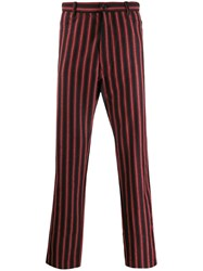 Ann Demeulemeester Striped Straight Trousers 60
