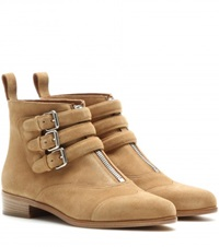 Tabitha Simmons Split Suede Ankle Boots Beige