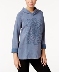 Styleandco. Style Co. Embroidered Hoodie Only At Macy's New Uniform Blue