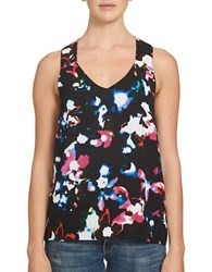 1.State Printed Racerback Tank Top Black