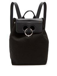 J.W.Anderson Pierce Canvas And Leather Backpack Black