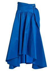 Peter Pilotto Taffeta Midi Skirt Blue