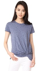 Stateside Short Sleeve Star Print Tee Vintage Blue